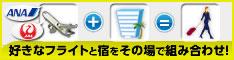 航空券パック(ANA/JAL航空券+ホテル)の予約はこちら!