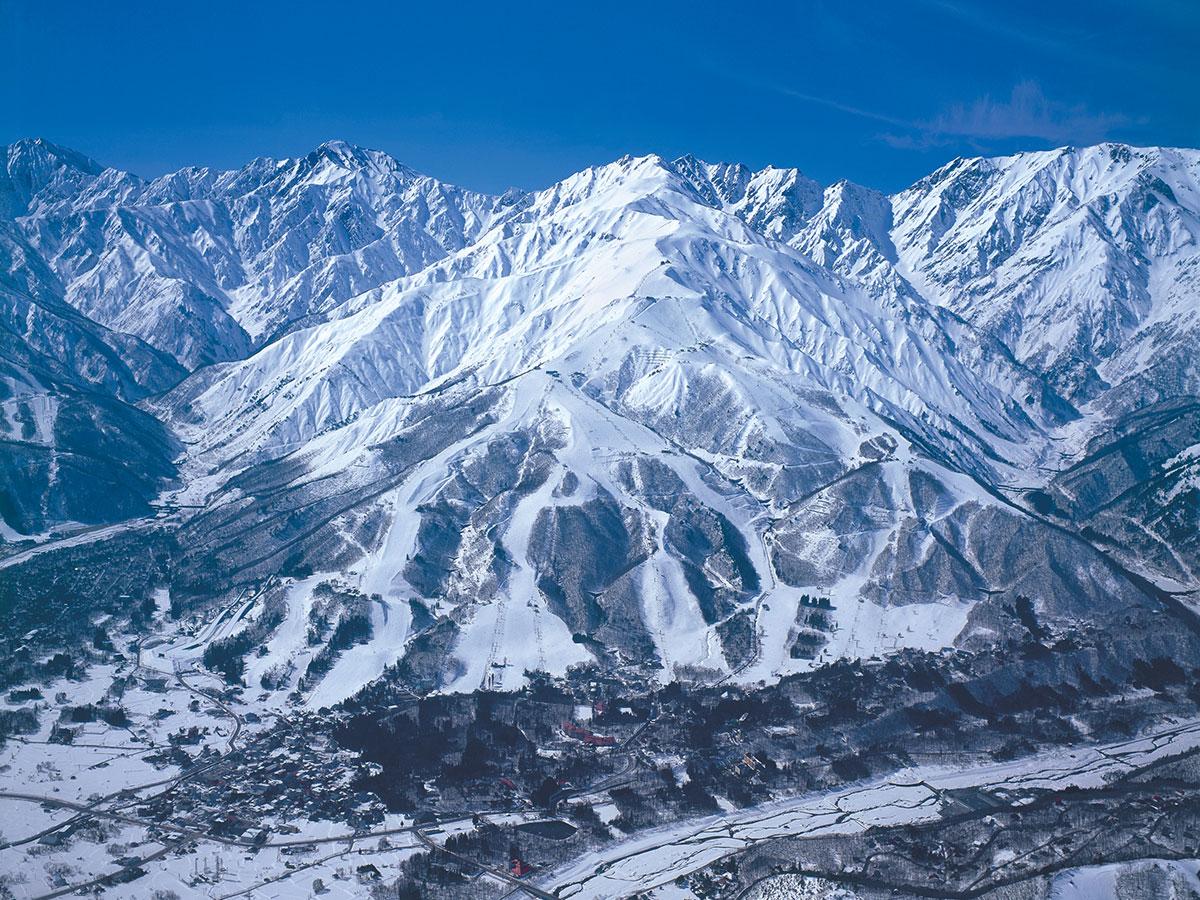 白馬八方尾根スキー場のゲレンデ写真
