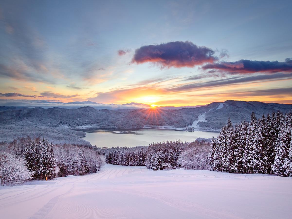 白馬さのさかスキー場のゲレンデ写真