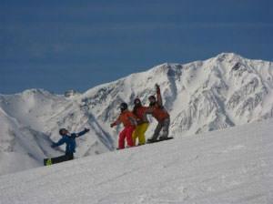 白馬岩岳スノーフィールドのゲレンデ写真