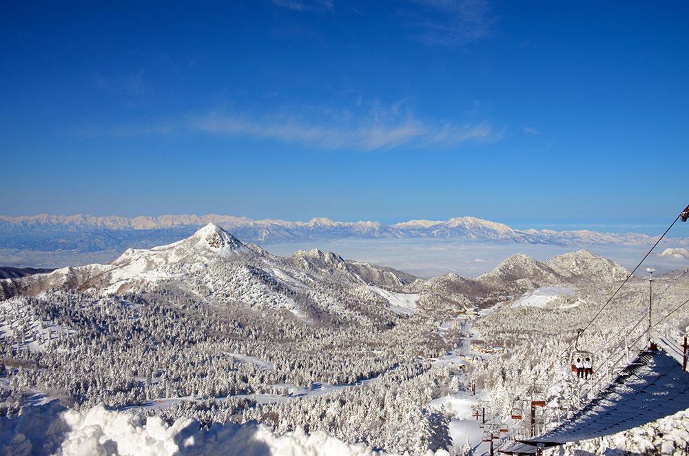 志賀高原のゲレンデ写真