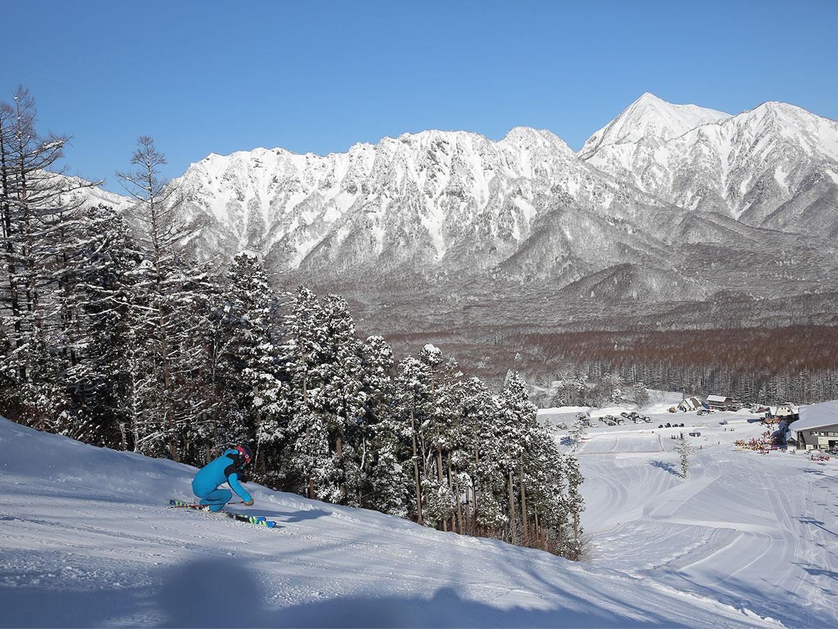 戸隠スキー場のゲレンデ写真