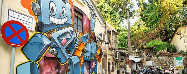タイパ地区の壁画アート