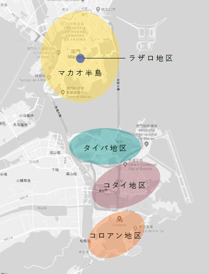 マカオの地図